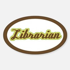 Librarian Script Oval Decal