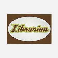Librarian Script Rectangle Magnet