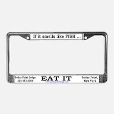 Funny Smells like fish License Plate Frame