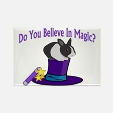 Believe In Magic Rectangle Magnet