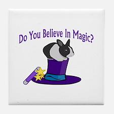 Believe In Magic Tile Coaster