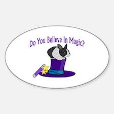 Believe In Magic Oval Decal