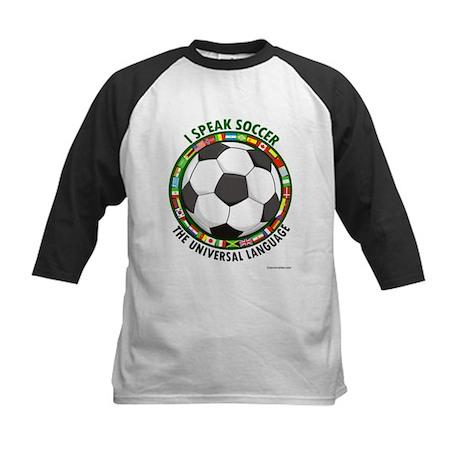 I speak soccer - the universa Kids Baseball Jersey