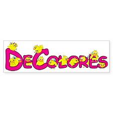 DeColores! Bumper Bumper Sticker