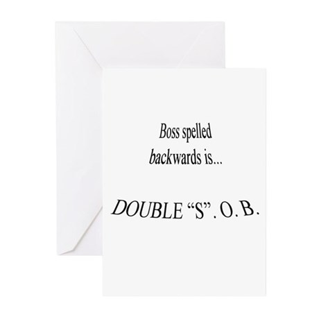 Boss Greeting Cards (Pk of 20)