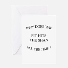 Shit hits the fan... Greeting Card