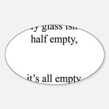 Glass Emply Oval Decal