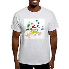 Ho! Ho! Ho! Scuba Santa Ash Grey T-Shirt