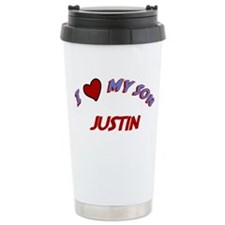 I Love My Son Justin Travel Mug