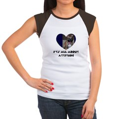 ITS ALL ABOUT ATTITUDE PIT BULL HEART Women's Cap