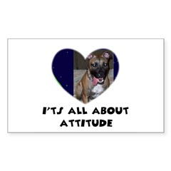 ITS ALL ABOUT ATTITUDE PIT BULL HEART Decal