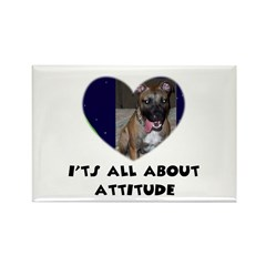 ITS ALL ABOUT ATTITUDE PIT BULL HEART Rectangle Ma