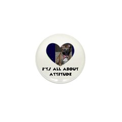 ITS ALL ABOUT ATTITUDE PIT BULL HEART Mini Button