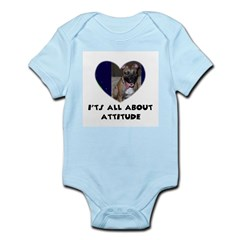 ITS ALL ABOUT ATTITUDE PIT BULL HEART Infant Creep