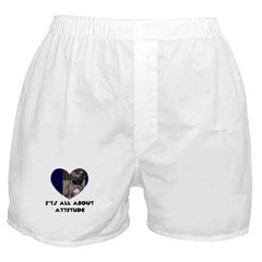 ITS ALL ABOUT ATTITUDE PIT BULL HEART Boxer Shorts