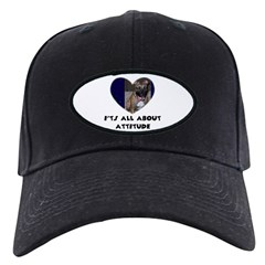 ITS ALL ABOUT ATTITUDE PIT BULL HEART Baseball Hat