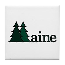 Maine Pine Tree Tile Coaster