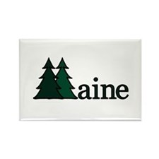 Maine Pine Tree Rectangle Magnet