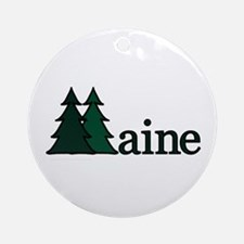 Maine Pine Tree Ornament (Round)