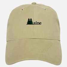 Maine Pine Tree Baseball Baseball Cap