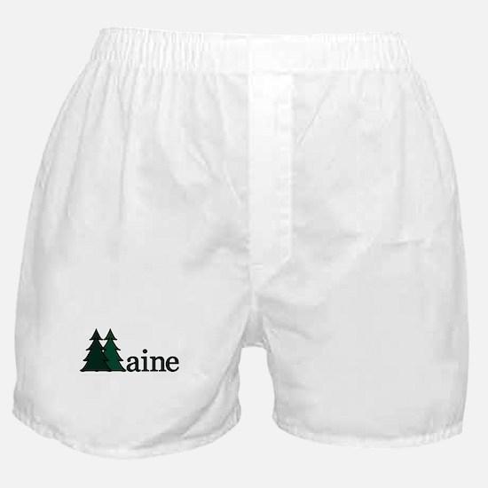 Maine Pine Tree Boxer Shorts