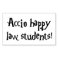 Accio happy law students! Rectangle Decal