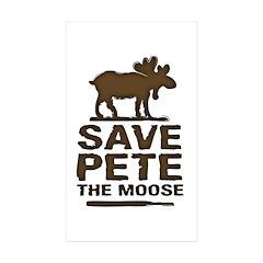 Save Pete the Moose Rectangle Sticker 10 pk)