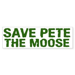 Save Pete the Moose Bumper Sticker (10 pk)