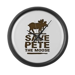 Save Pete the Moose Large Wall Clock
