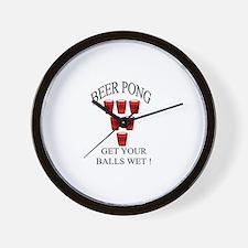 Beer Pong Wall Clock