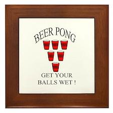 Beer Pong Framed Tile