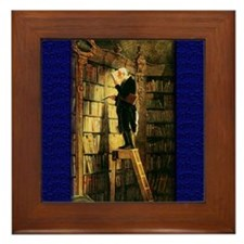 """""""The Bookworm"""" Framed Tile"""