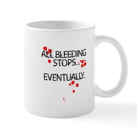 All bleeding stops Mug