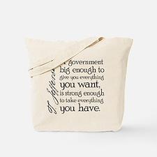 Jefferson Big Government Tote Bag