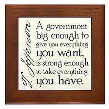 Jefferson Big Government Framed Tile