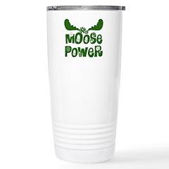 Moose Power Stainless Steel Travel Mug