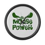 Moose Power Large Wall Clock