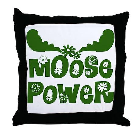 Moose Power Throw Pillow