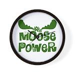 Moose Power Wall Clock