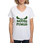 Moose Power Women's V-Neck T-Shirt