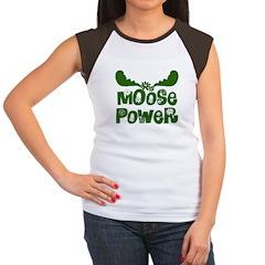 Moose Power Women's Cap Sleeve T-Shirt
