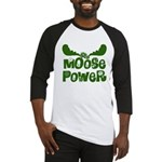 Moose Power Baseball Jersey