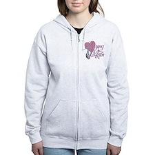 Army Mom Heart N Star Zip Hoodie