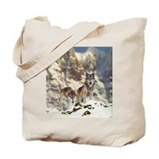 """Wolf Pair"" Tote Bag"