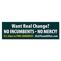 No Incumbents No Mercy Green Stickers 50 pk