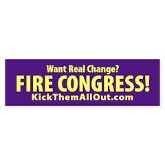 FIRE CONGRESS Yellow and Purple Sticker 50 pk