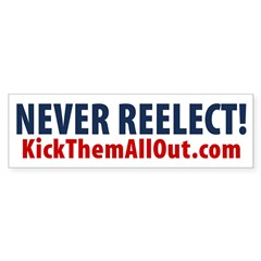 NEVER REELECT KTAO Sticker 10 pk