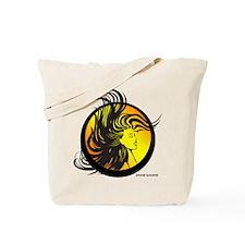 Wild Hair Girl Tote Bag