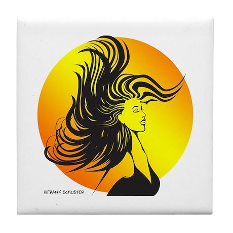 Wild Dance Girl Tile Coaster