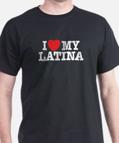 I love My Latina Black T-Shirt